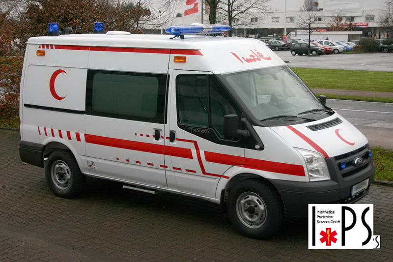 Ford Transit VI, panel van, middle roof, transport ambulance