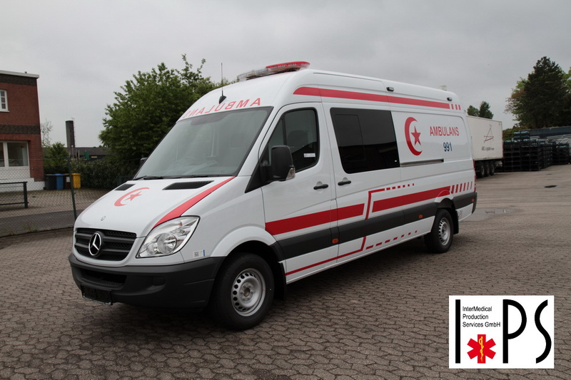Mercedes-Benz Sprinter, 324 KA, panel van, high roof, long, ICU ambulance