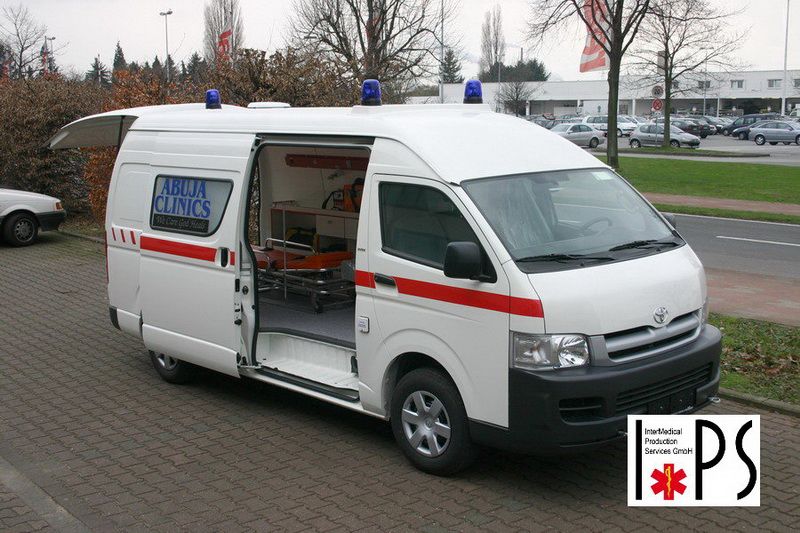 Toyota Hiace, Panel Van, Super Long, High Roof, transport ambulance