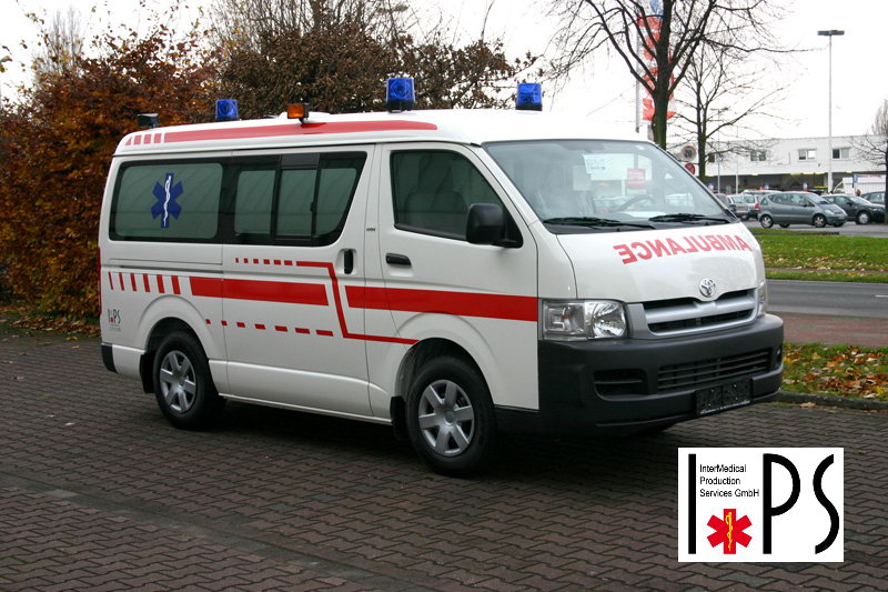 Toyota Hiace, Panel Van, Long, Middle Roof, transport ambulance