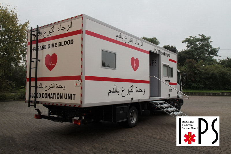 iveco eurocargo blood donation unit